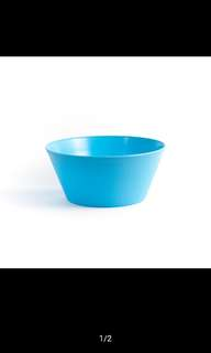Blue round salad mixing bowl 2500ml
