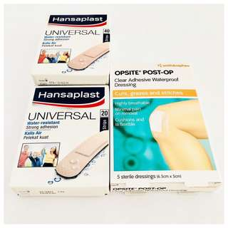 Smith & Nephew Wound Dressing Hansaplast Plasters For First Aid Scratches Cuts Grazes Stitches
