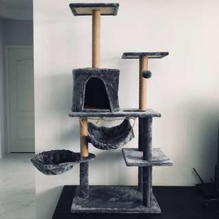 (4 colours available) cat condo tree scratch post play kitten, sisal, not cushion bed carrier
