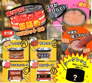 J.Dream Super Real! Puffy Canned Food Mascot Keychain Gachapon / Gachapon from Japan