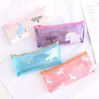 🚚 Unicorn Transparent Pencil Case