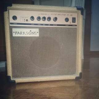 Tweed color practice amp - Parkson's guitar amplifier with built in overdrive - made in korea