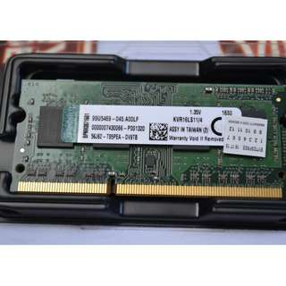 Kingston 4GB PC3L-DDR3L 1600mhz Brandnew Laptop Ram