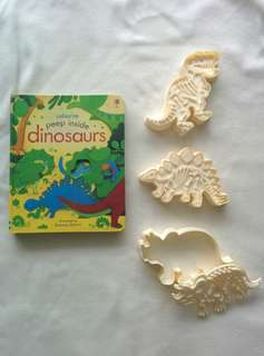 Usborne Dinosaur Book & Cutters for Playdough