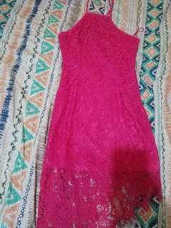 pink bodycon new dress