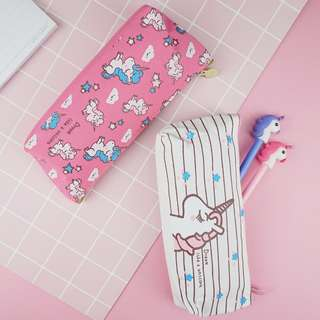 🚚 Unicorn Canvas Pencil Case