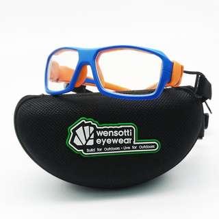 🚚 ✨ 兒童運動型眼鏡 ✨[檸檬眼鏡] WENSOTTI WI6850 M07 完美防護 戶外運動首選 高CP值