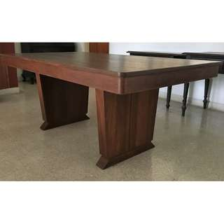 Vintage Art Deco Burmese Teak Wood Dining Table