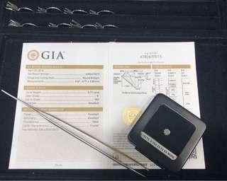 GIA 証書 0.72份祼鑽