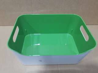 Green IKEA Basket with Handles
