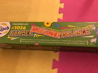 Number equaliser balance - maths learning tool for kids
