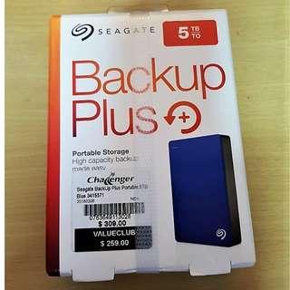 Brand New Seagate BackUp Plus 5TB USB
