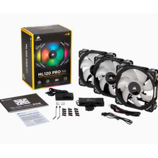 Corsair ML120 Pro RGB 3 Fan Pack with Lighting Node Pro