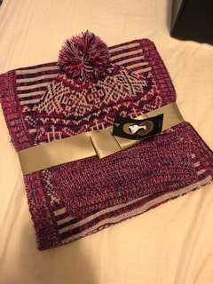 MIXIT knit hat and scarf set