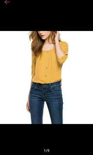 Women O-Neck Long Sleeve Chiffon Blouse