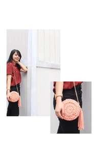 Basic Knitted Sling Bag