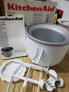 Kitchen Aid Ice Cream Maker Stand Mixer Attachment