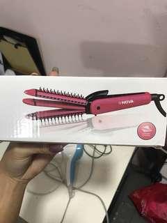 Nova hair curler & straightener