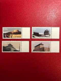 中國郵票- 1997 - 19 -西安城牆郵票一套