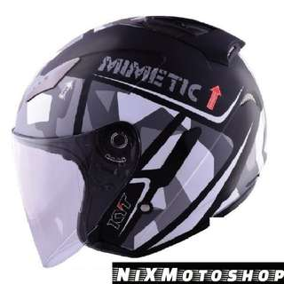 KYT Hellcat Mimetic Grey ( Single Visor )