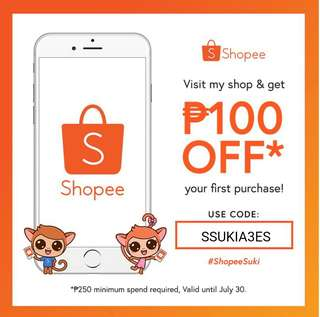 Shopee Voucher Code for first time user.