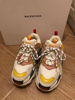 ⭕️限時優惠⭕️Balenciaga triple S pink yellow