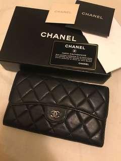 Chanel wallet 羊皮長銀包
