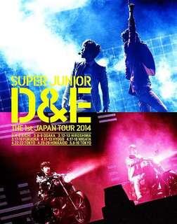 Super Junior D&E 東海 銀赫 First Japan Tour DVD 日版 (99%新 包郵)初回 限量 藍光