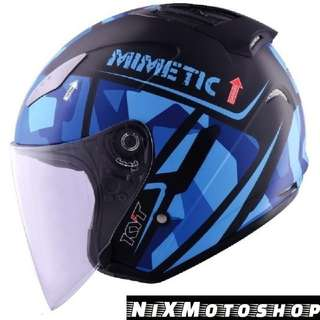 KYT Hellcat Mimetic Blue ( Single Visor )