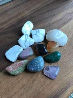 Handful of stones - rose quartz, malachite, agate, tourmaline, citrine etc for mindfulness meditation