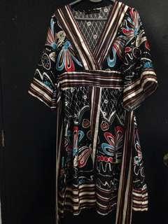 Maldita Japanese Obi Style Dress