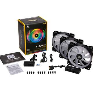 Corsair LL120 RGB 3 Fan Pack with Lighting Node Pro