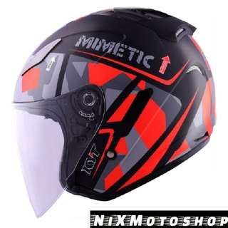 KYT Hellcat Mimetic Red ( Single Visor )