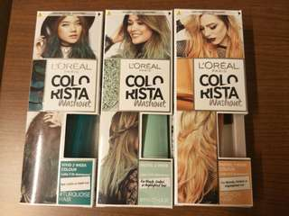 Instock BNIB Loreal Colorista Washout Products