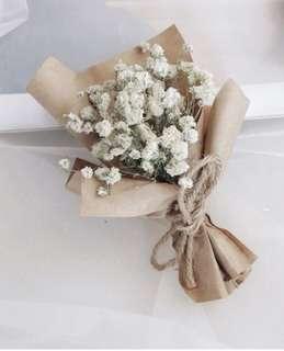 Tiny baby breath bouquet