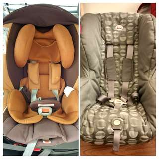 Ailebebe Kurutto NT2 Proud and Britax Asis carseats