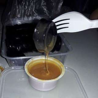 black kutsinta with yema dip