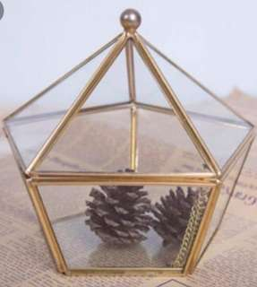 Grometric terrarium or wedding ring holder