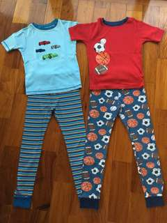 (7-9 yrs old) Kirkland Organic Cotton Snug-Fit Pajama Sets