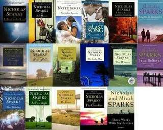 EBOOK:Nicholas Sparks eBook COMPLETE SET
