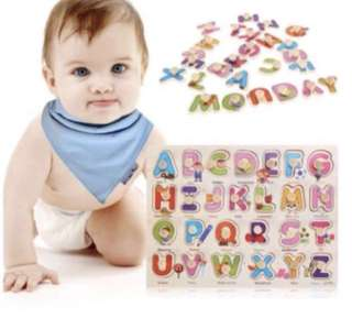 Brand new ABC wooden puzzle