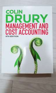 Management and Cost Accounting Textbook