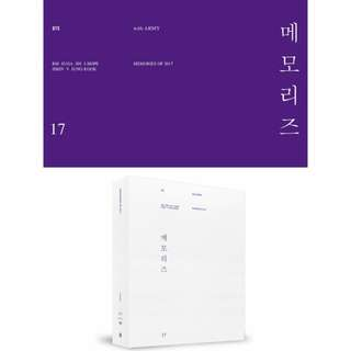 [ PREORDER ] BTS MEMORIES OF 2017 DVD