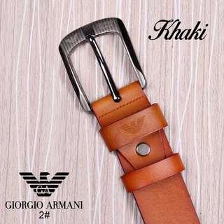 wa.081378713287,Tali Pinggang Fashion Giorgio Armani Kode 2#  Bahan Kulit .  Berat = 200 gram Lebar Tali = 3,8 cm  Ready 4 Warna * Black * Khaki * Brown * Coffee