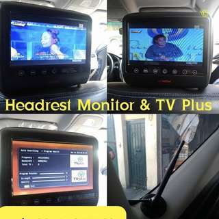 Headrest monitor & TV Plus