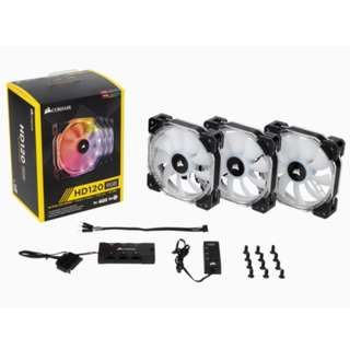 Corsair HD120 RGB Three Pack with Controller