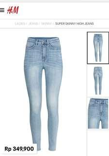 Super skinny jeans hw
