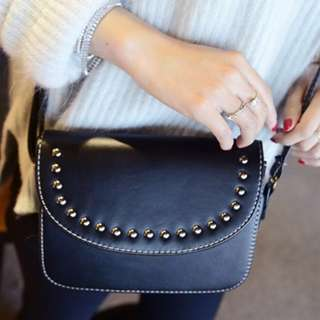 British Square Rivet Sling Bag