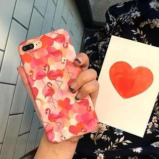 🌼C-1170 Heart Flamingo Case🌼