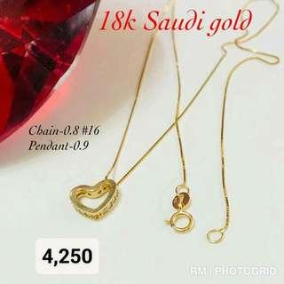 18k Saudi Yellow Gold Necklaces
